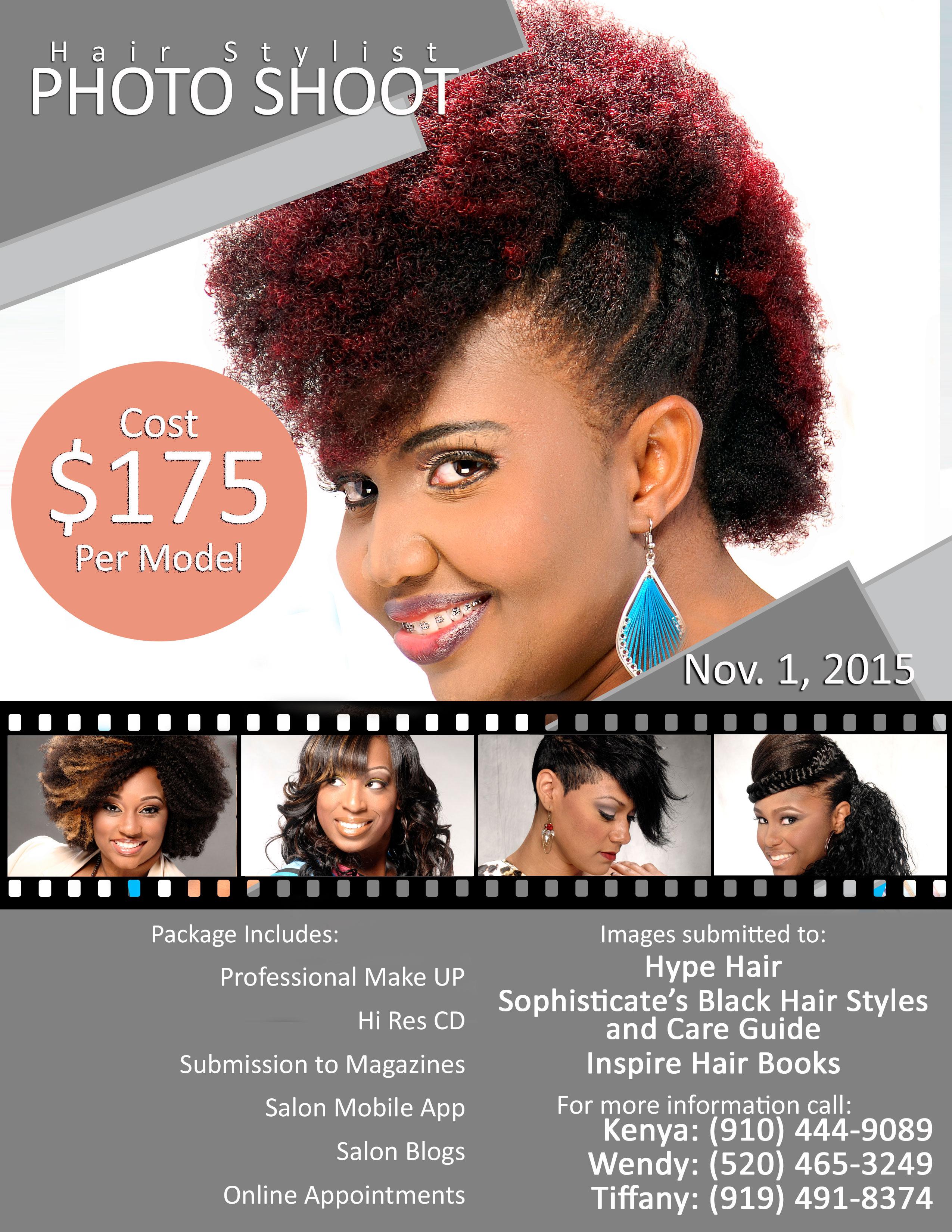Durham NC Hairstylist Photo Shoot