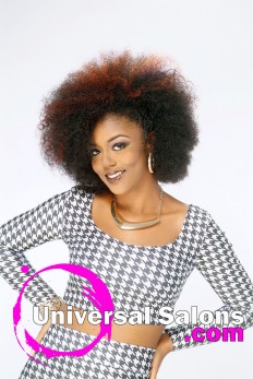 Natural Afrocentric Hairstyle from Kenya Young