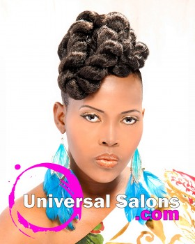 Jumbo Twist Hawk Hairstyle from Latoya Brown
