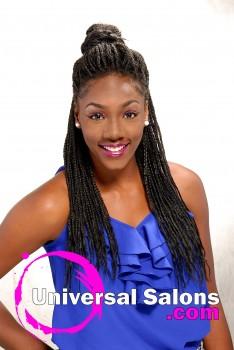 Tonisha Kenty's Natural Half Up/Half Down Hairstyle