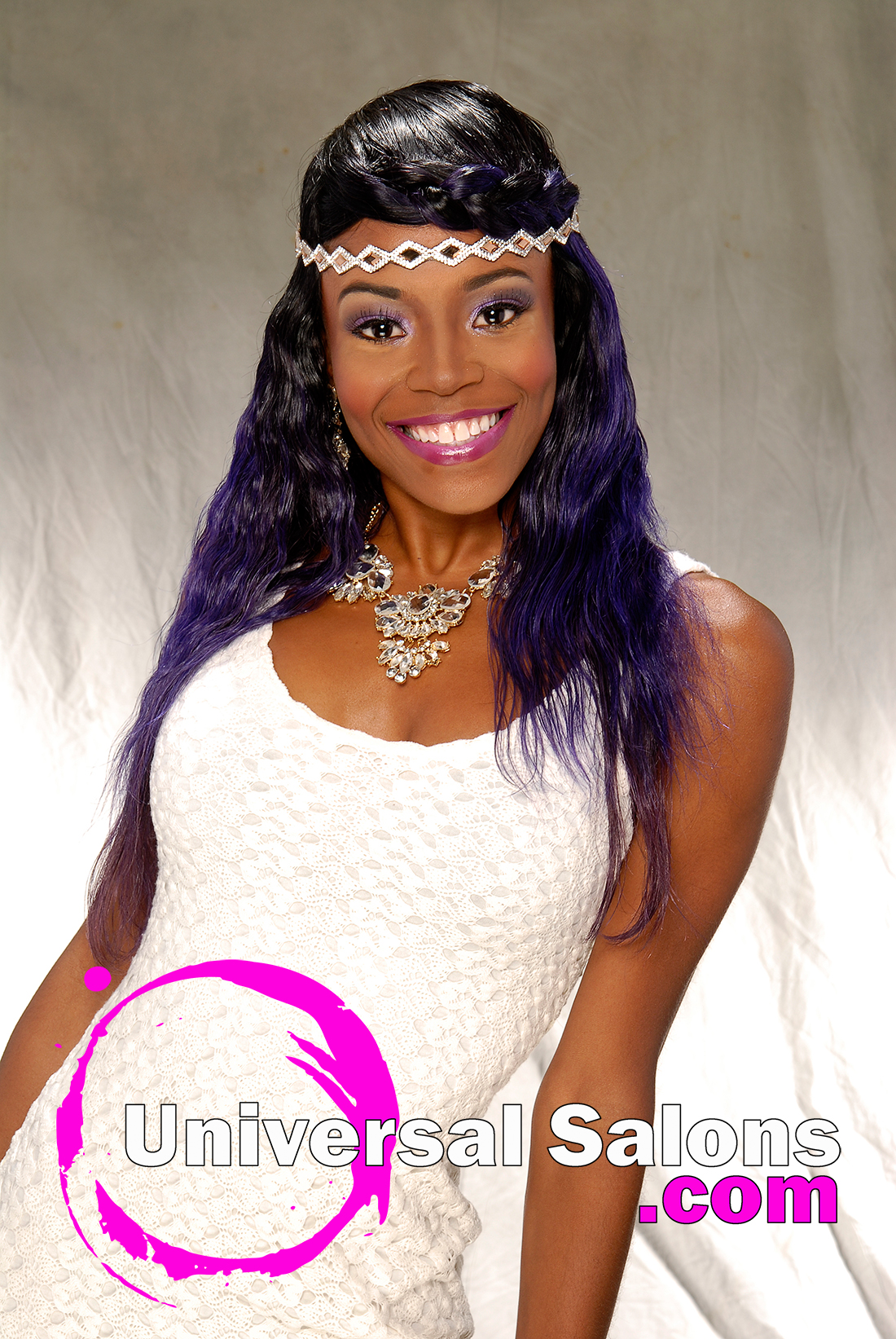 Terresa Murray's Purple Fusion Long Hairstyle