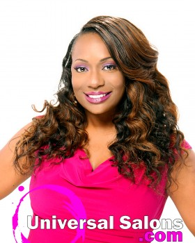 Medium Wand Curls Hairstyle with Color from Denise Granberry
