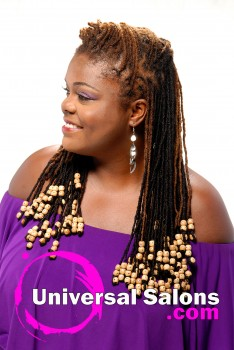 Natural Locs with Playful Beads from Tonisha Kenty