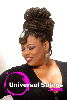 Natural Locs Updo from Tanene Jackson