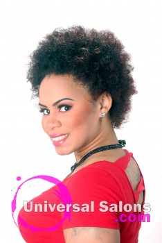Natural Textured Afro Hairstyle from Jackie Evans