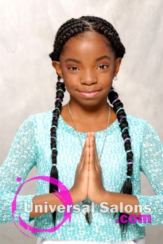 Kid's Cornrow Braids Hairstyle from Shae Thompson