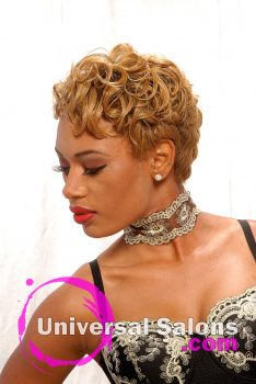 Blonde Pin Curl Hairstyle from Deirdre Clay