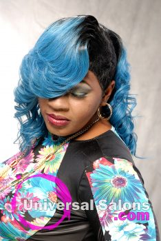 """Blue Magic"" Long Hairstyle Extensions form Amber Mcclain"