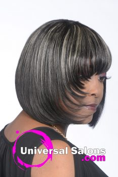 Edgy Bang Asymmetric Bob Hairstyle from Deedra McLeod