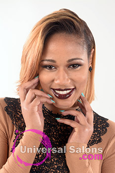 Honey Haze Bob Hairstyle for Black Women from Deirdre Clay