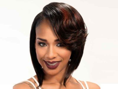 Bob Hairstyle for Black Women with Curls and Highlights
