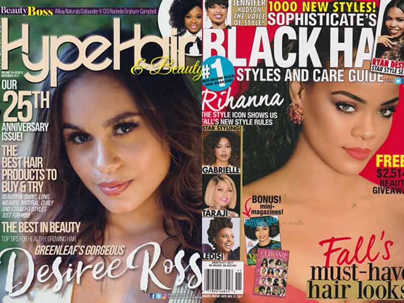 Universal Salons Gets 17 Hairstyles Featured in Magazines