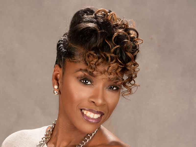 natural updo hairstyle for black women