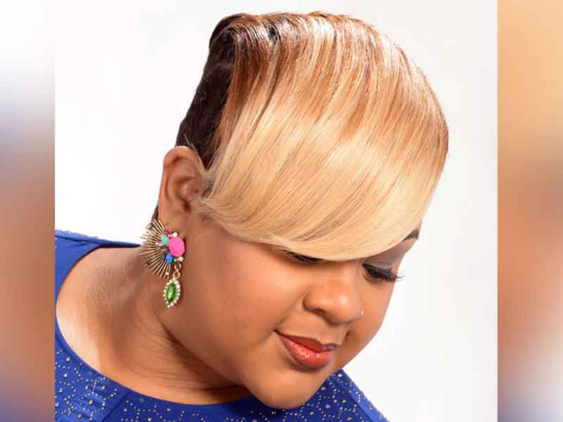 Short, Sassy, Blonde Hairstyle from Kevin Quattlebaum