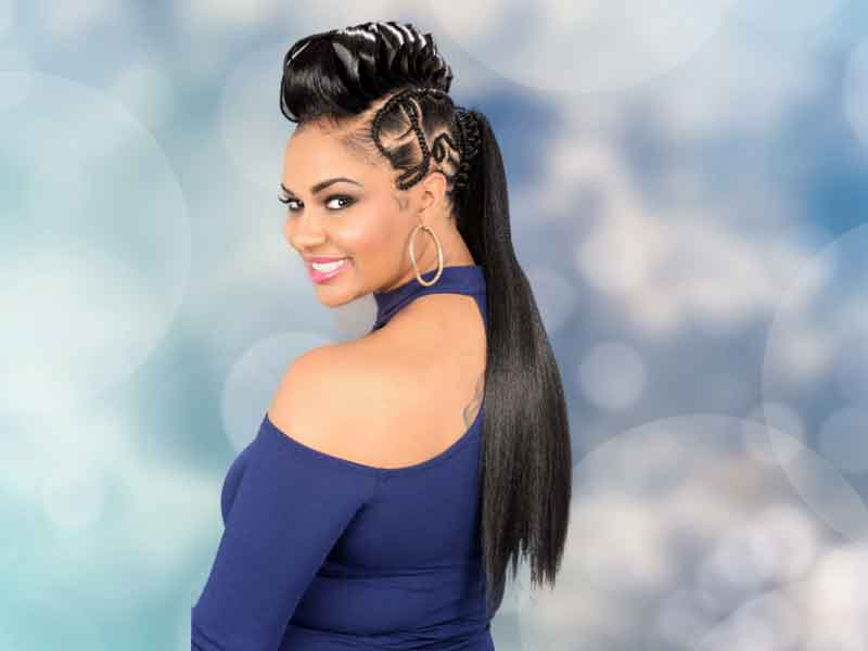 Beautiful Gator Braid Ponytail Hairstyle from Tiffany Thames