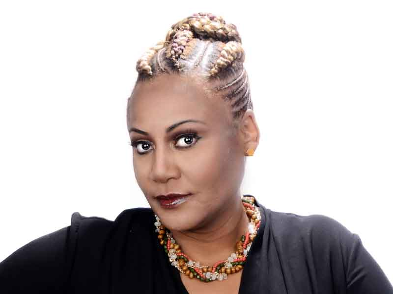 Check Out this Goddess Cornrow Updo from Patricia Clinkscales
