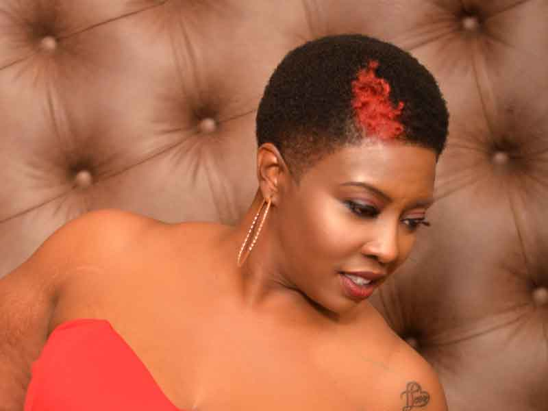 Short Natural Hairstyle with Hair Color from Bishop Da Showstopper