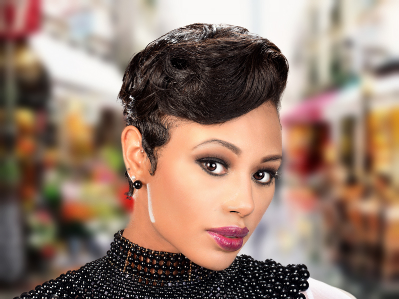 Elegant Soft Waves Short Hairstyle from Deirdre Clay