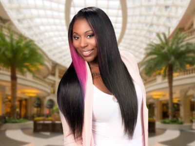 Long Sew In Black Hairstyle