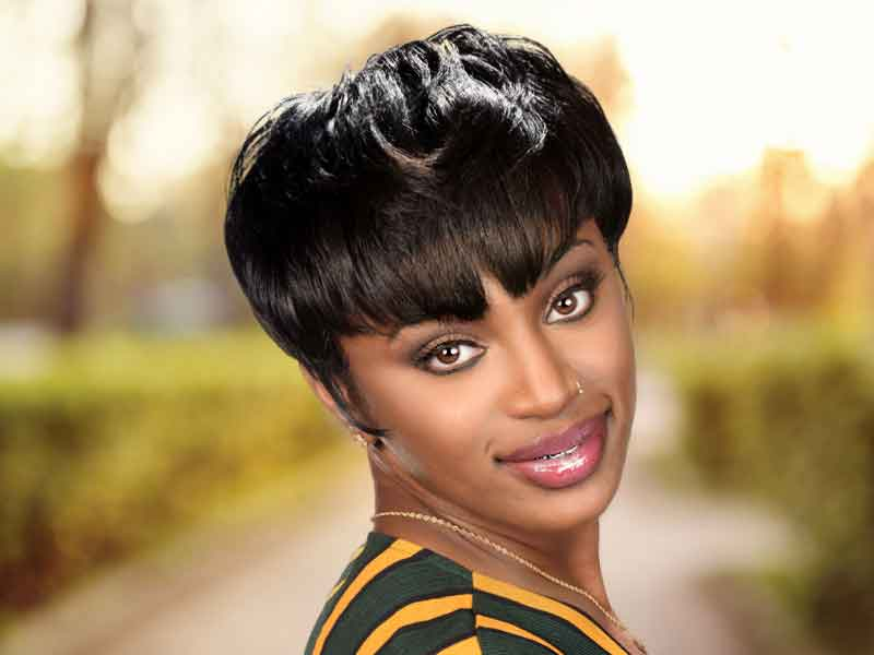 Short Black Hairstyle for Women