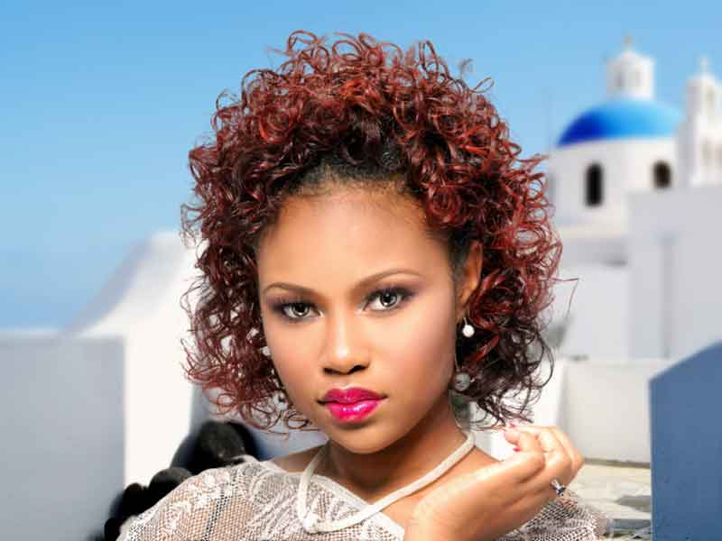 Cover: Spiral Curl Hairstyle with Hair Color