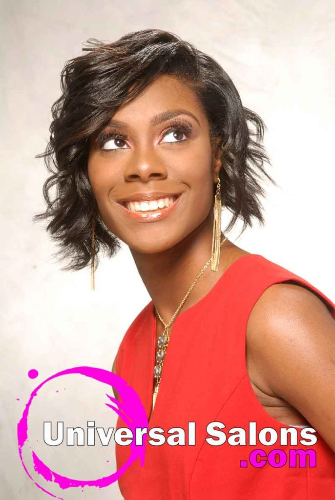 Short Bob Hairstyle for Black Women (Front)