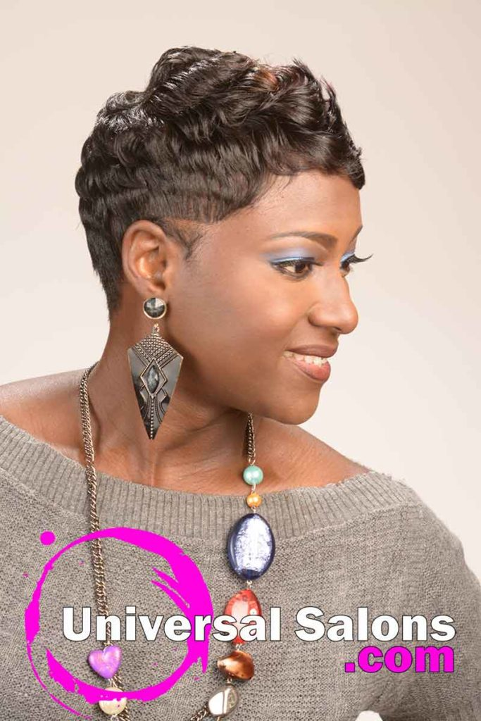 Right: Short Curly Hairstyle for Black Women