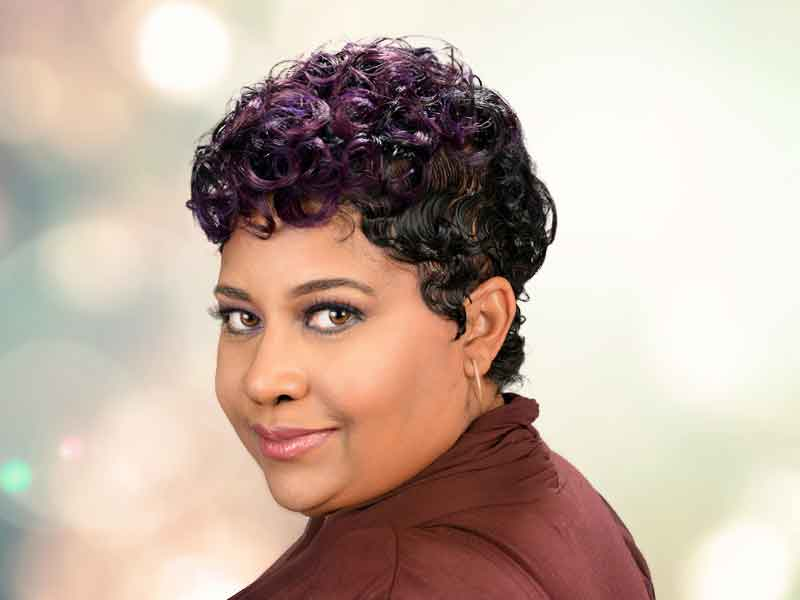 Short Hairstyle with Curls from Kenya Young