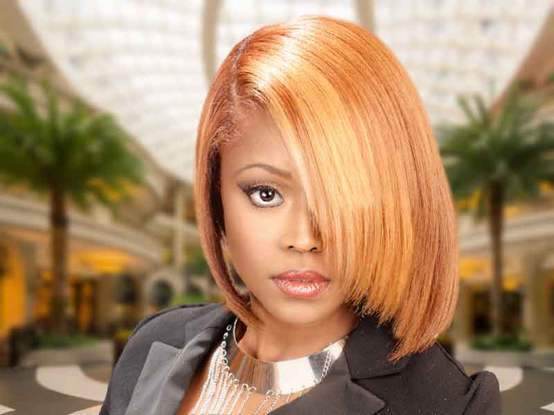 Haircut with Layers and Hair Color for Black Women from Deirdre Clay