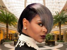 Short Hairstyle for Black Women with Grey Hair Color