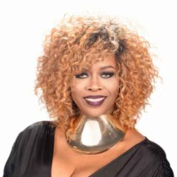 Blonde Curly Hairstyle for Black Women