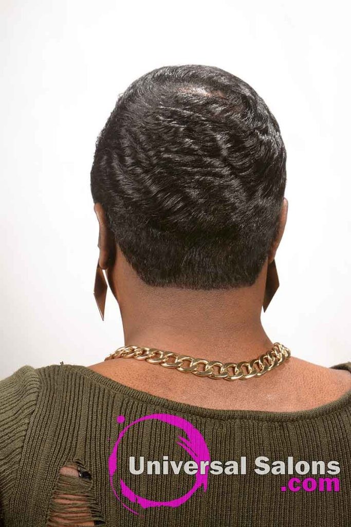 Back View: Modern Pixie Cut Hairstyle