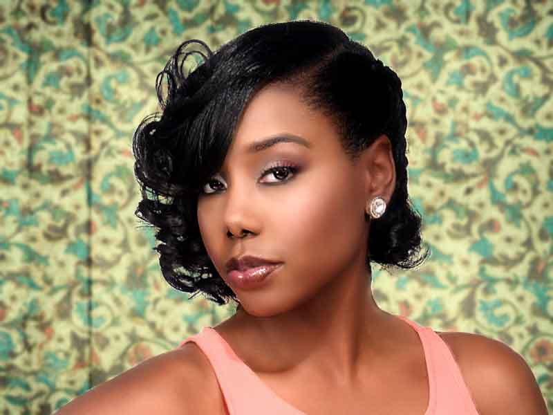 Curly Hairstyle for Natural Hair from Lacey Singleton