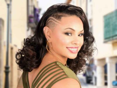 Long Natural Hairstyle with a Tapered Side and Curls