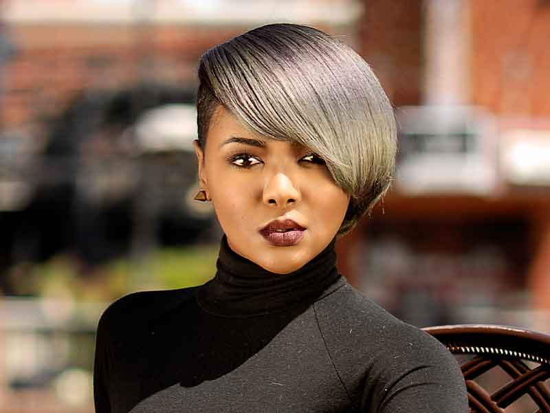 Smokescreen Bob Hairstyle for Black Women from Deirdre Clay