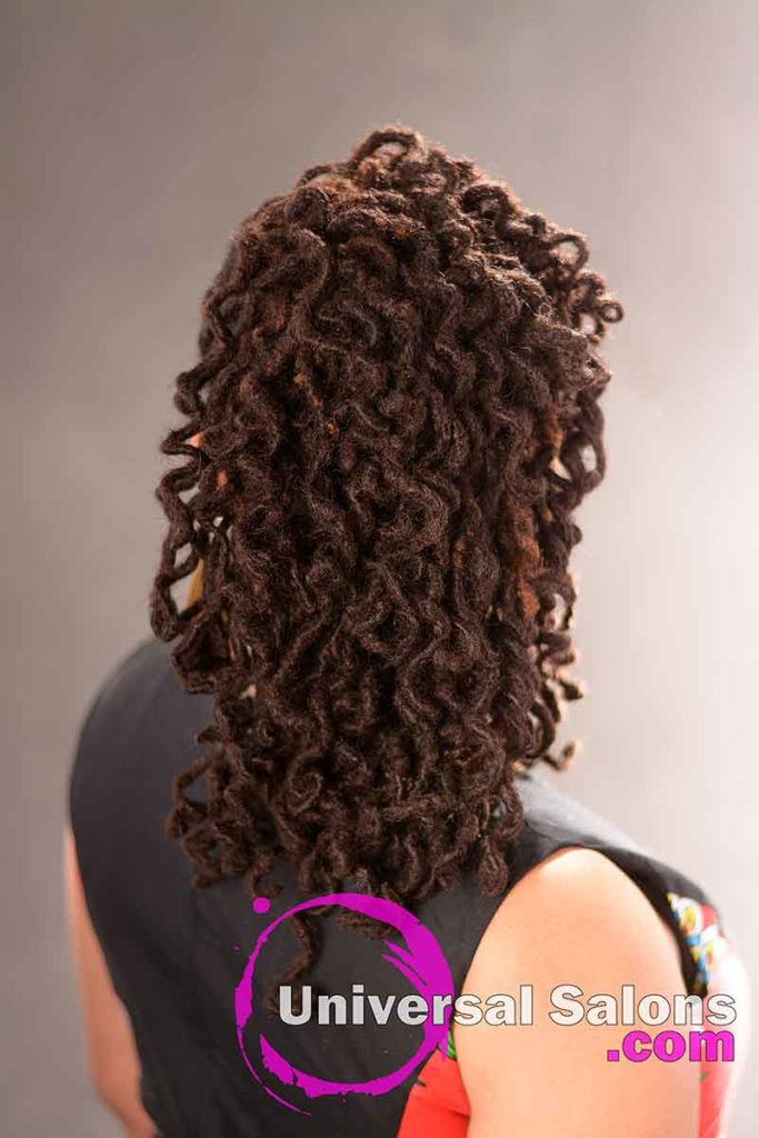 Back View: Beautiful Handcrafted Permanent Loc Extensions