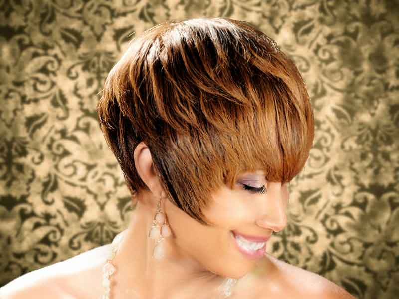 Pixie Haircut with Hair Color