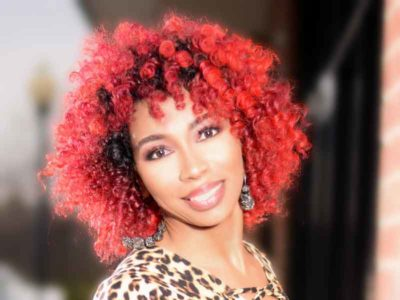 Check Out This Intense Red Hair Color on Natural Hair