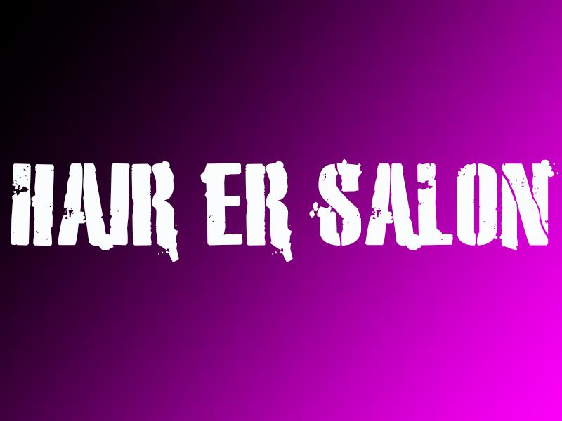 Hair ER Salon Banner