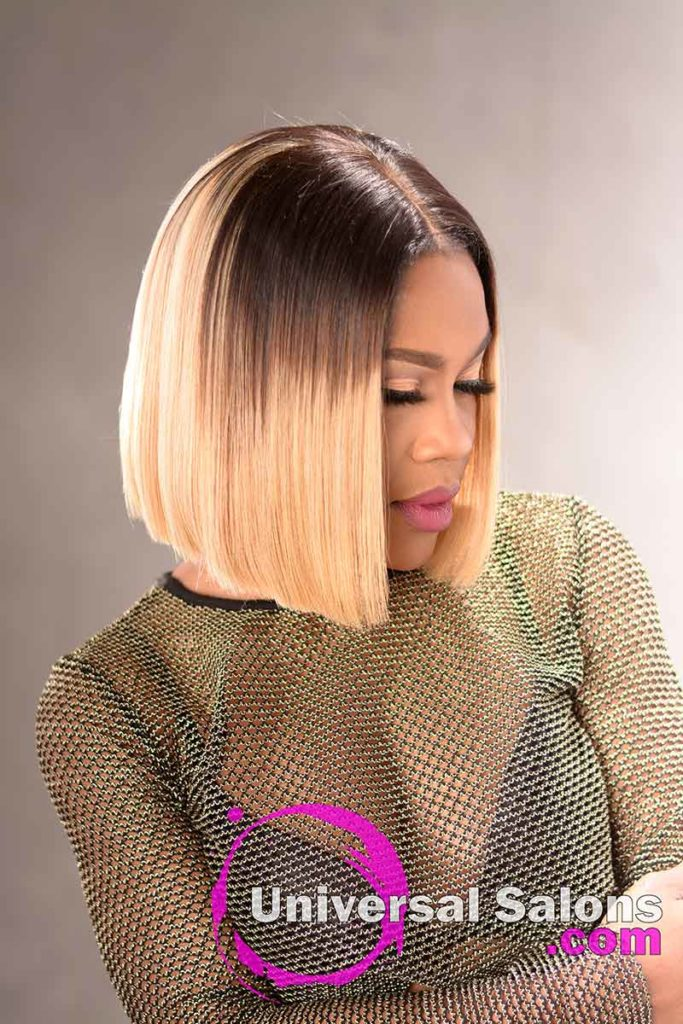 Right View: Blunt Cut Bob Hairstyle with Movement