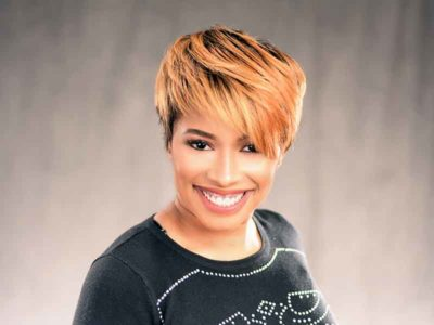 Short Hairstyle with a Custom Haircut and Ombre Color