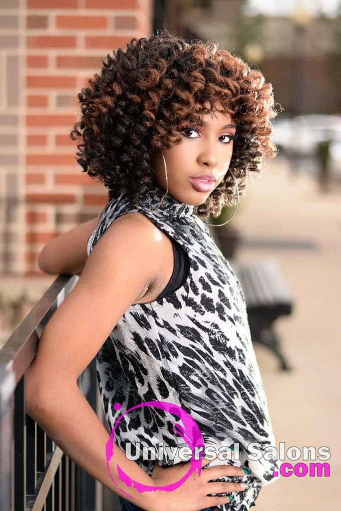 2nd Right View - Crochet Hair Locs Protective Style