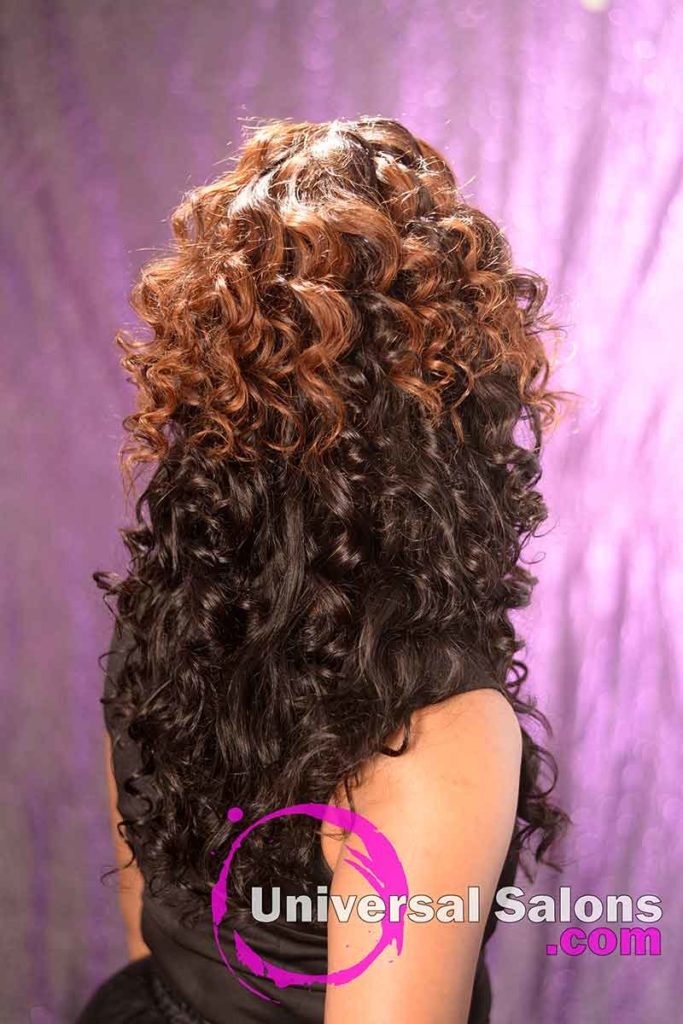 Back View: Curly Lace Wig Ponytail for Black Women