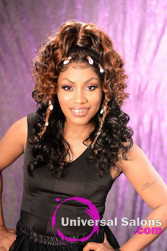 2nd 1/2 Front View: Curly Lace Wig Ponytail for Black Women