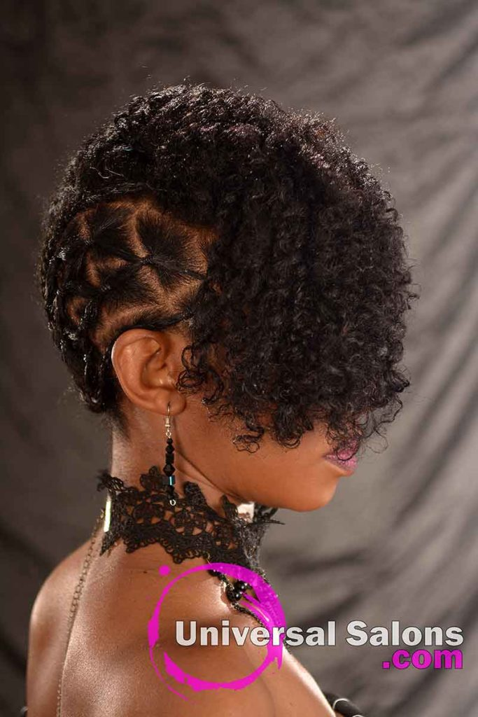 Right View: Curly Updo Hairstyle for Natural Hair
