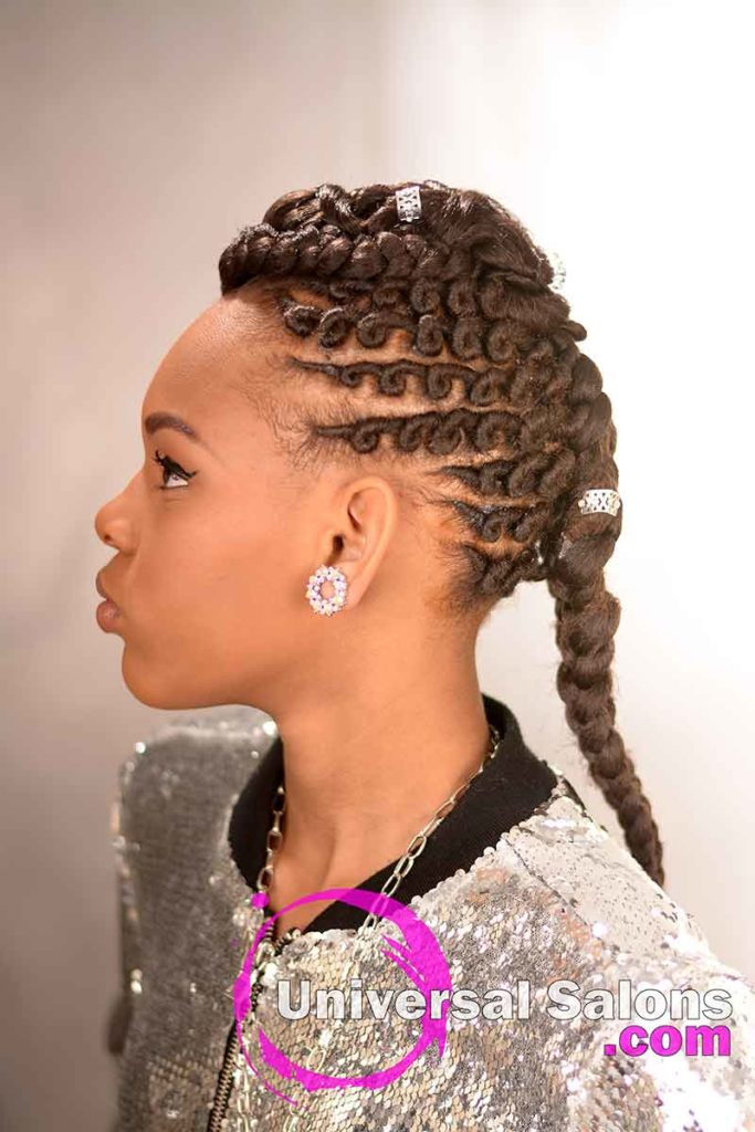Left View: Alluring Kids Braid Hairstyle from Marquita Briggs from Columbia, SC