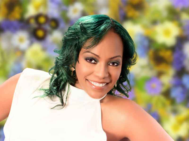 Emerald Green Hair Color on Natural Hair