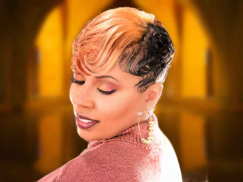 Stunning Short Blonde Hairstyle for Black Women from Deedra Mcleod