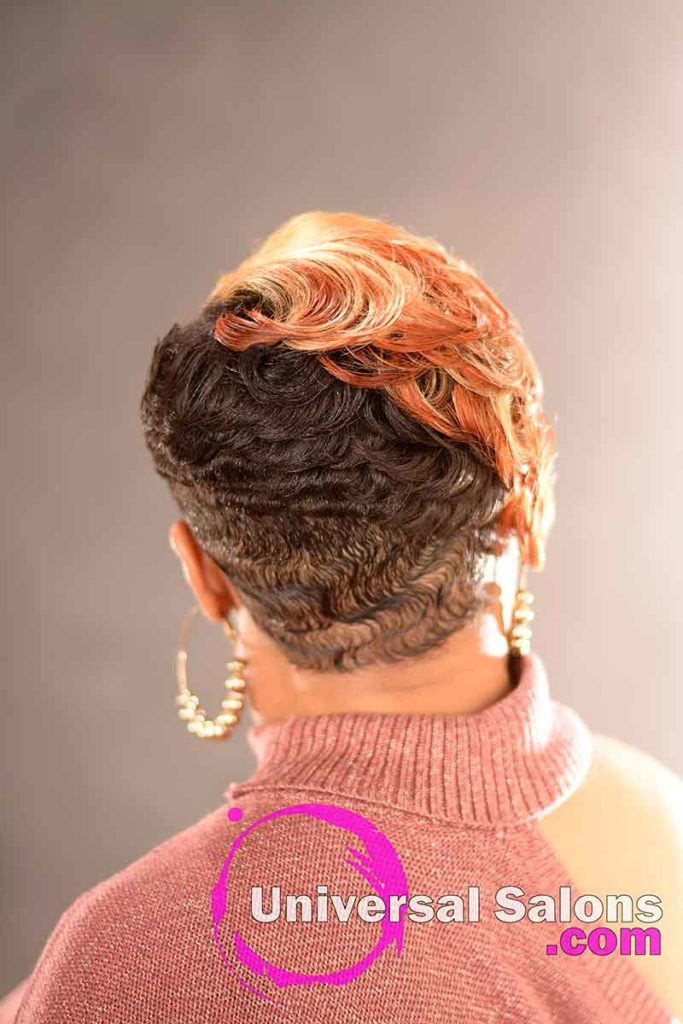 Back View: Stunning Short Blonde Hairstyle for Black Women