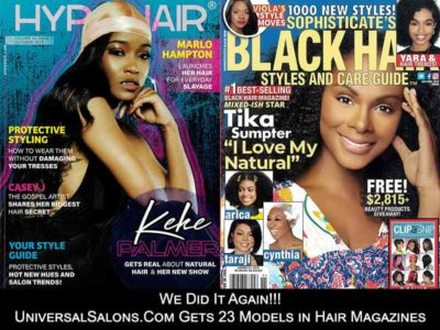 UniversalSalons.Com Gets 23 Models in Hair Magazines
